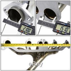 For Yj Tj Xj Jeep Wrangler/cherokee Stainless Steel Header Exhaust Manifold+flex