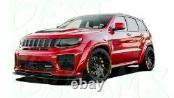 Front Bumper Splitter Lip For Jeep Grand Cherokee Srt8 / Trackhawk 2011-2020