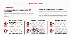 Front Drill And Slot Brake Rotors & Metallic Pads For Cherokee XJ Wrangler TJ