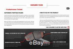 Front + Rear Drill Slot Brake Rotors And Ceramic Pads 1999 2004 Grand Cherokee