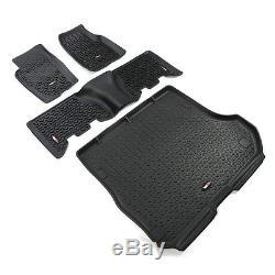 Full Floor Liner Mat Kit Black for Jeep Grand Cherokee ZJ 1993-98 12988.31