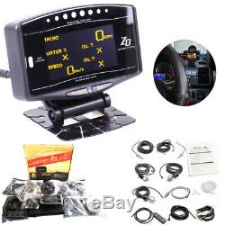 Full Kit 10 in 1 Advance ZD Link Meter Digital Auto Gauge With Electronic Sensor