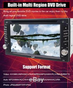 GPS Navigation With Map Bluetooth Radio Double Din 6.2Car Stereo DVD Player VCD