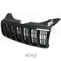 Grille For 2005-2007 Jeep Grand Cherokee Black Plastic