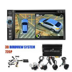 HD 3D 360° ring aerial view 4-channel DVR Dash-camera intelligent switch In Car