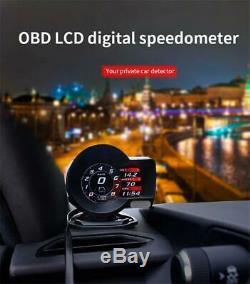 HUD Head-Up Display OBD2 Car Digital Multi Gauge Display Gauge Boost Scan Tool