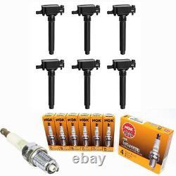 Ignition Coil + NGK Spark Plugs Pack for Chrysler Dodge Jeep Ram 3.2/3.6L V6