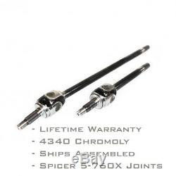 Infinity Series Chromoly Front Axle Shaft Pair for Jeep Dana 30 TJ XJ 27 Spline