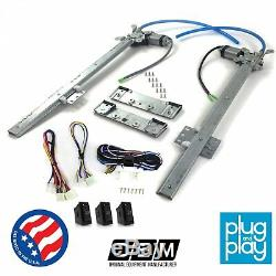 International Harvester Scout 1961-80 Power Window Regulator Kit with 3 Switches