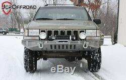JCR Offroad DIY Front Winch Bumper Bare Metal 93-98 Jeep Grand Cherokee ZJ