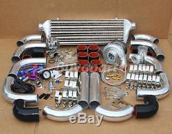 JDM 12 PCS Upgrade Universal T3/T4 T04E Hybrid Turbo Kit Turbo Starter Kit 350HP