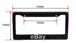 JDM Style 1 pc Black Carbon FIBER LICENSE PLATE FRAME TAG COVER ORIGINAL 3K I301