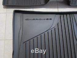 Jeep Cherokee All Weather Black Slush Mats and Cargo Tray Mopar OEM 2014-2015