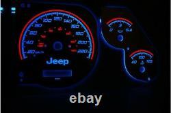 Jeep Grand Cherokee 1995 -1999 design 1 glow gauges dials plasma dials kit tacho