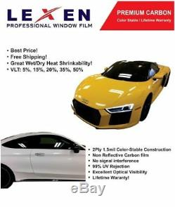 Lexen 2Ply Economic Carbon 40 X 100FT Roll Window Tint Film Car Dark Shade 15%