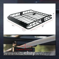 Modular Steel Roof Rack Basket Travel Luggage Storage Wind Fairing Matte Blk G26
