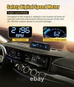 Multi-function LCD Head Up Display Car OBD2 Compatible Speedometer Slope Meter