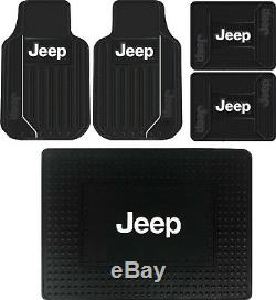 New 5pc Elite Front Rear Cargo SUV Truck All Weather Rubber Floor Mats for Jeep