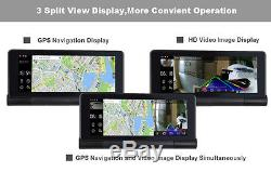 New Folding HD Dual Car Kit DVR Camera GPS Navigation Android 7 Touch WiFi ADAS