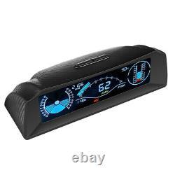 OBD2 Car Dash Head Up Display Speedometer Smart Slope Meter Inclinometer Compass