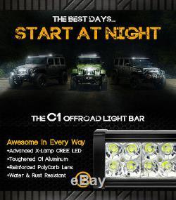 OPT7 22 120w LED Light Bar CREE Off-Road Spot Flood Work Truck SUV ATV Lamp