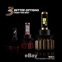 OPT7 Fluxbeam X H11 H8 H9 LED Headlight Bulbs 60w Pair 6000K White Light Kit
