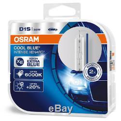 OSRAM D1S Xenarc COOL BLUE INTENSE HID 6000K 66140CBI-HCB Xenon Car Bulbs DuoBox