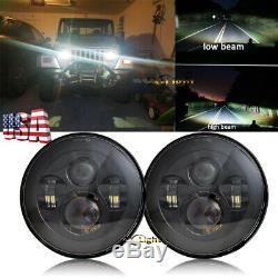 Osram 7 LED Headlights+ 4 LED Fog Light Spot Lamp Combo Kit For Jeep Hummer H2