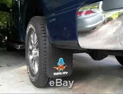 PAIR Yosemite Sam Back Off Easy Fit Mud Guards Flaps 11 x 20 New Free Shipping