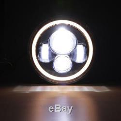 Pair 7 INCH 150W LED Headlight Hi/Lo Beam Fit For Jeep Wrangler CJ JK LJ 97-17