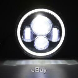 Pair 7 INCH 280W LED Headlights Halo Angle Eye For Jeep Wrangler CJ JK LJ 97-18