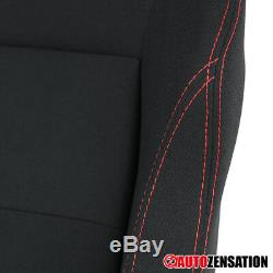 Pair Of Reclinable Sporty Racing Seats Black Red Stitch with Slider