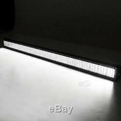 Quad Row CREE 42Inch 2880W Straight LED Light Bar Offroad Spot Flood beam ATV