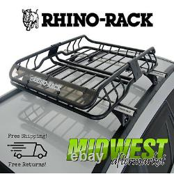 Rhino-Rack Roof Mount Cargo Basket with Fairing Fits 2011-2017 Jeep Grand Cherokee