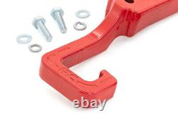 Rough Country Forged Red Tow Hooks for 2015-2019 Grand Cherokee WK2 RS133