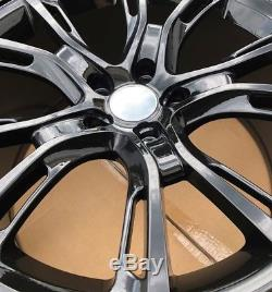 SET OF FOUR 4 20 x10 WHEELS RIMS fit JEEP GRAND CHEROKEE SRT-8 STYLE BLACK NEW