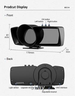 Smart Car OBD2 GPS Gauge HUD Head-Up Digital Display Speedometer Turbo RPM Alarm