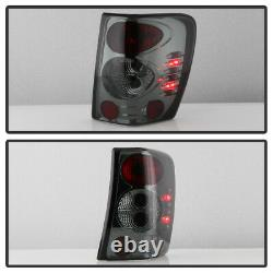 Smoked For 1999-2004 Jeep Grand Cherokee Euro Tail Lights Brake Lamps Left+Right