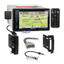 Soundstream GPS Sirius Stereo Dash Kit Harness for 2007-14 Chrysler Dodge Jeep