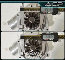 T3/T4 Turbo Charger. 57 A/R Compressor Turbine 400 Hp 5 Bolt Flange Rx7 Rx8 Fd