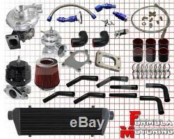 T3/t4.57a/r Turbo Intercooler Piping Kit Black 1.6l 1.8l 2.0l 2.3l 2.5l I4 Engi