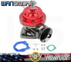 T3/t4 Turbo Charger Kit 25psi Universal Downpipe+wastegate+intercooler+bov Red