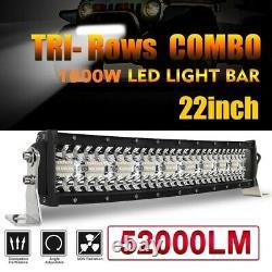 Tri-Row 22inch 1600W Curved LED Light Bar Spot Flood Truck Offroad VS 202426