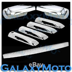 Triple Chrome Mirror+4 Door Handle+Tailgate Cover for 05-10 JEEP GRAND CHEROKEE