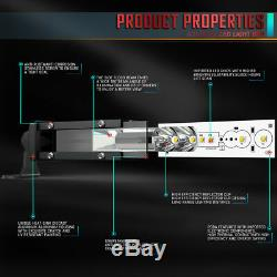Ultra-Thin 12Inch 416W LED Work Light Bar Flood Spot Driving Lamp Car Truck ATV