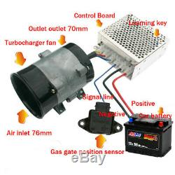 Universal 12V 16.5A Car Electric Turbine Turbo Charger Booster + Auto Controller
