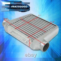 Universal 18.5 X 11.5 X 3 Tube & Fin Polished Aluminum FMIC Turbo Intercooler