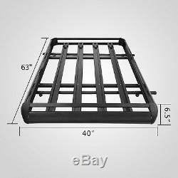 Universal 63 Black Roof Rack Extension Cargo Top Luggage Hold Carrier Basket