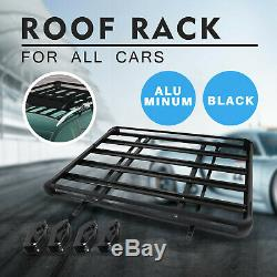 Universal 63 X 40 Black Aluminum Roof Top Rack Basket Luggage Cargo Carrier