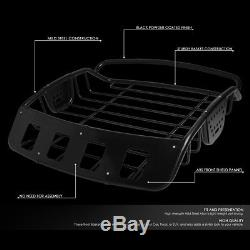 Universal Adjustable Heavy Duty MILD Steel Roof Cargo Basket Top Luggage Carrier
